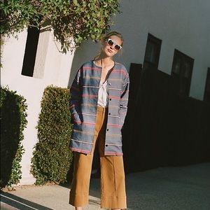 Anthro Dolan left coast Piccadilly stripped coat